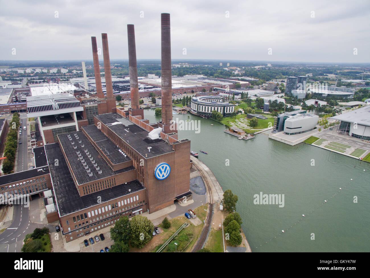 Aerial View Volkswagen Car Factory Imágenes De Stock & Aerial View ...