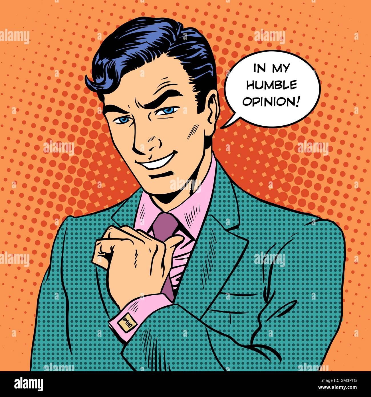 Empresario humilde opinión guapo Imagen De Stock