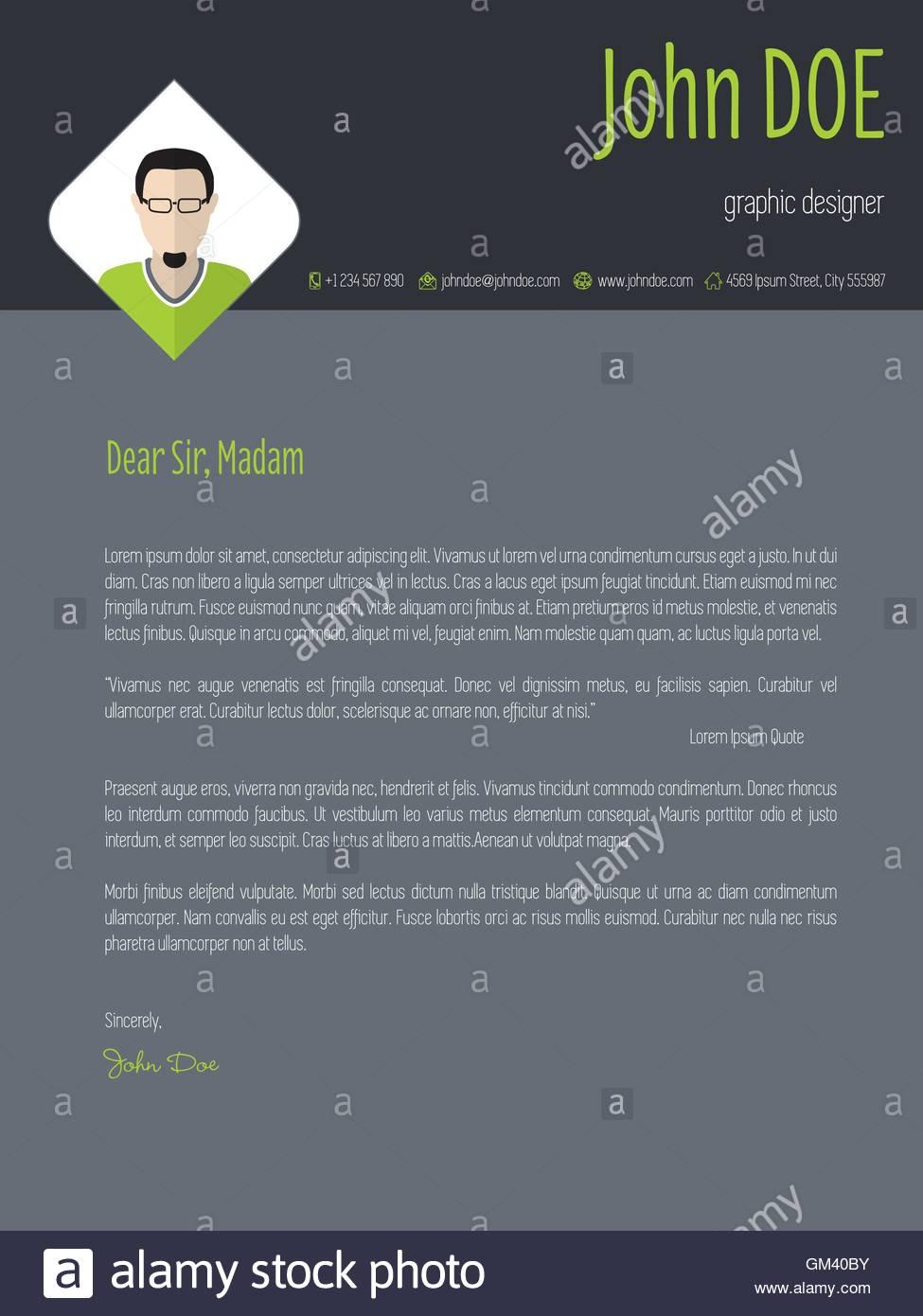 Curriculum Vitae Resume Cv Design Imágenes De Stock & Curriculum ...
