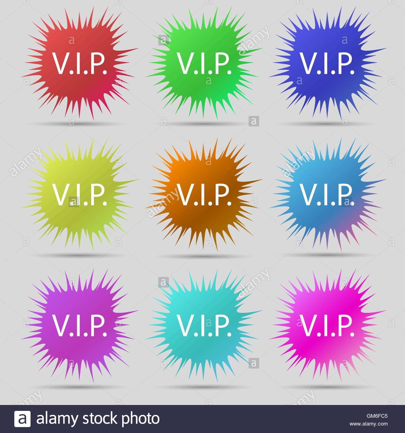 Icono de signo de VIP. Símbolo de pertenencia. Persona muy importante Imagen De Stock