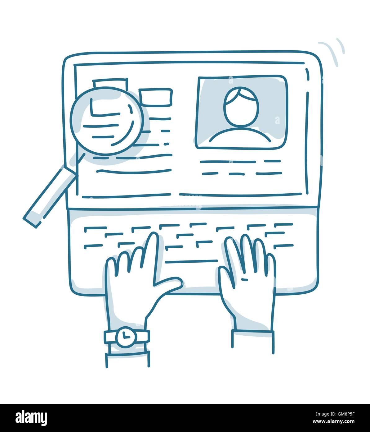 Conceptos para la búsqueda de personal profesional, analizando ...