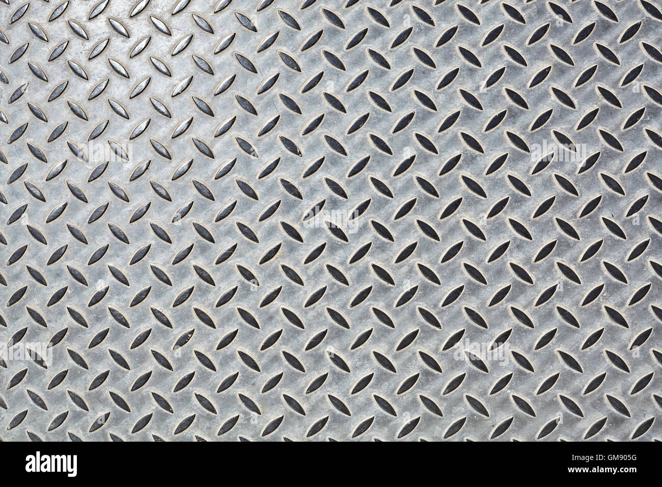 Piso de acero, patrón de fondo o textura. Foto de stock