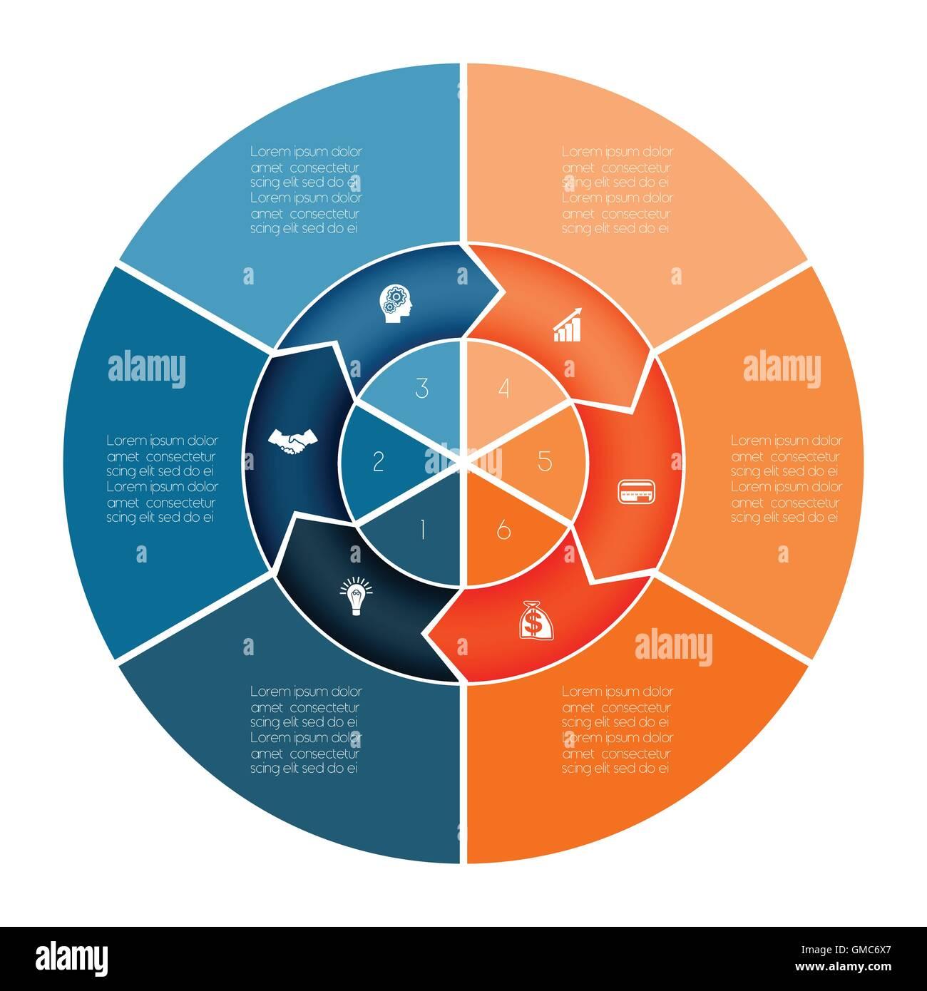 Gráfico de área ring plantilla de gráfico circular gráfico ...
