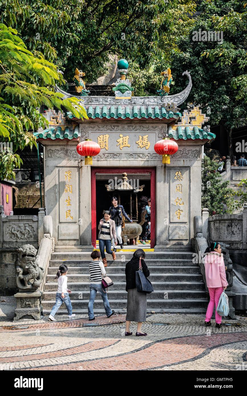 Famosos a-ma ama templo chino de la puerta de entrada en macao macao Imagen De Stock