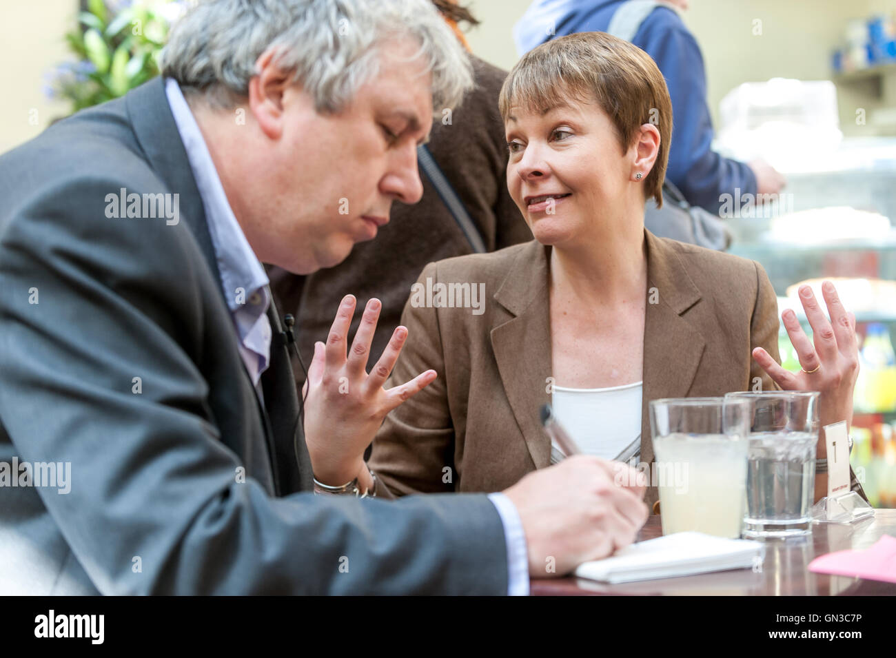 Caroline Lucas, del Partido Verde MP para el Pabellón de Brighton Imagen De Stock