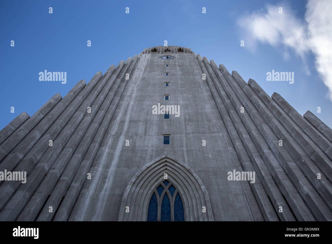 La Iglesia Hallgrimskirkja, Reykjavik, Iceland Foto de stock