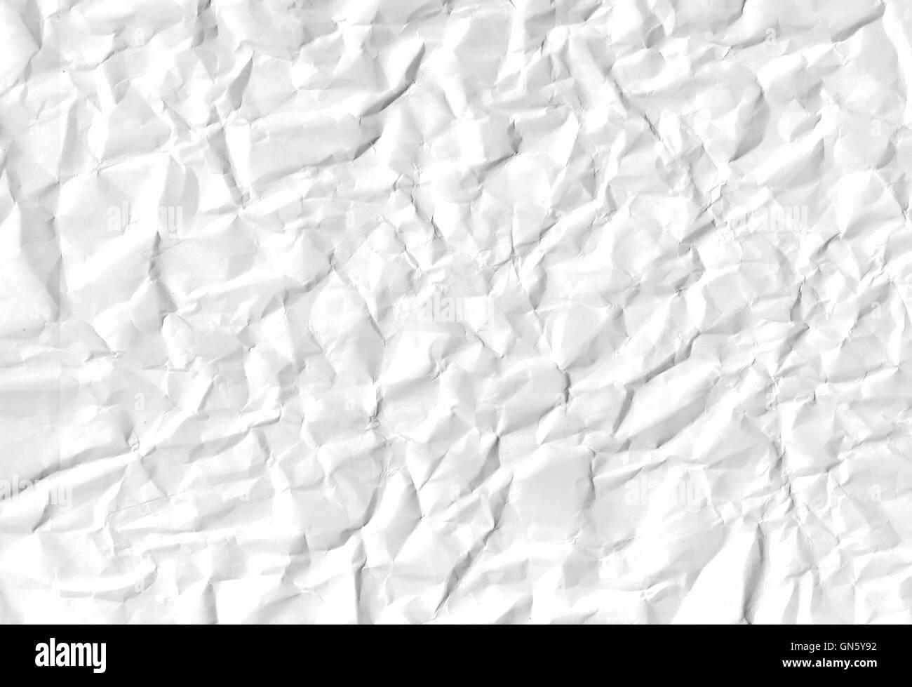 Texturas de papel arrugado blanco Imagen De Stock