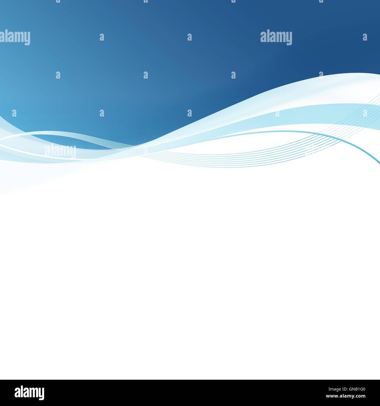 Suavizar líneas azules de fondo abstracto. Ilustración vectorial Ilustración del Vector