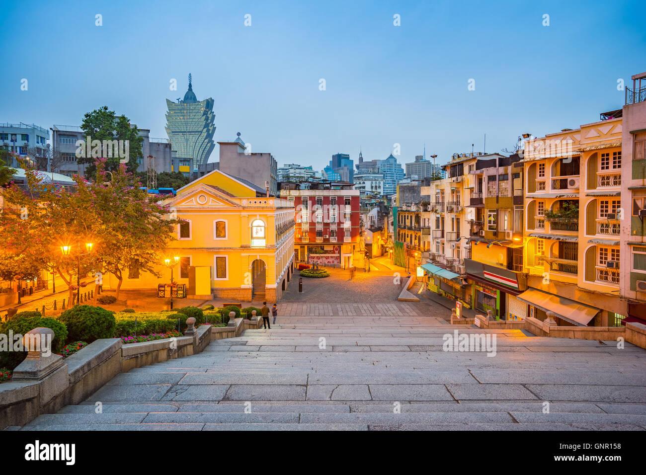 Vista del paisaje urbano de Macao, China . Imagen De Stock