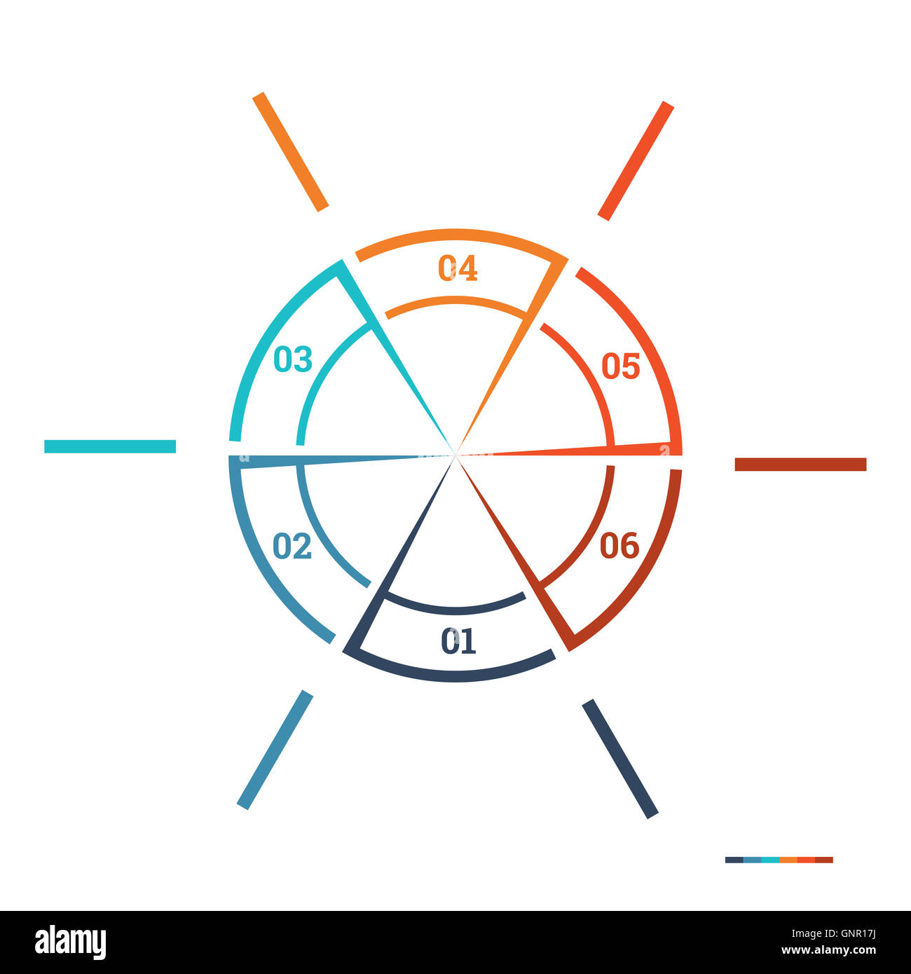 Infografía de la plantilla de gráfico circular Círculo colorido de ...