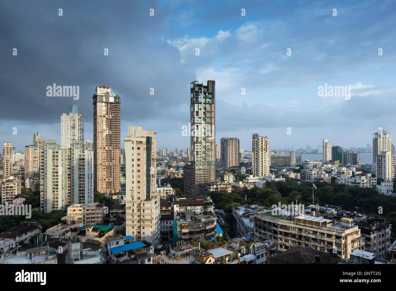 Horizonte de Mumbai Central Imagen De Stock