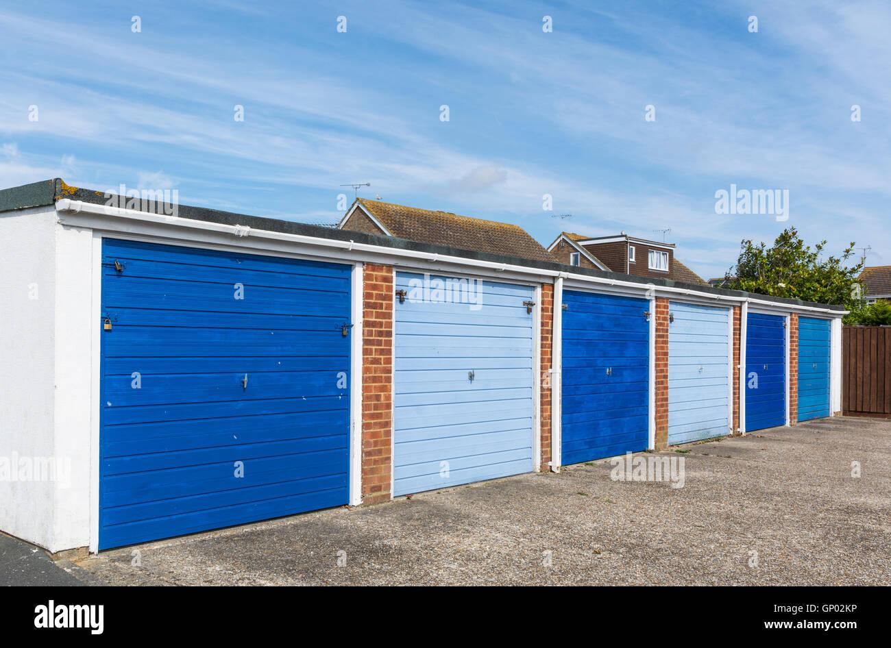 Alquiler de Garajes privados en Inglaterra, Reino Unido. Imagen De Stock