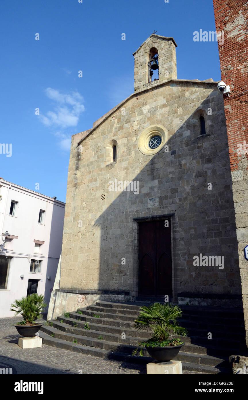 Chiesa di Santa Chiara iglesia, Oristano, Cerdeña, Italia Foto de stock