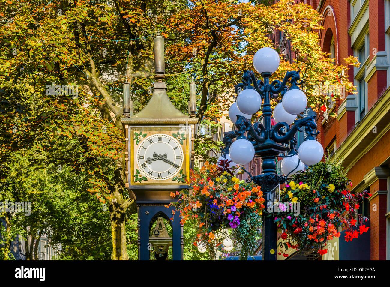 El reloj de vapor, Gastown, Vancouver, British Columbia, Canadá Imagen De Stock