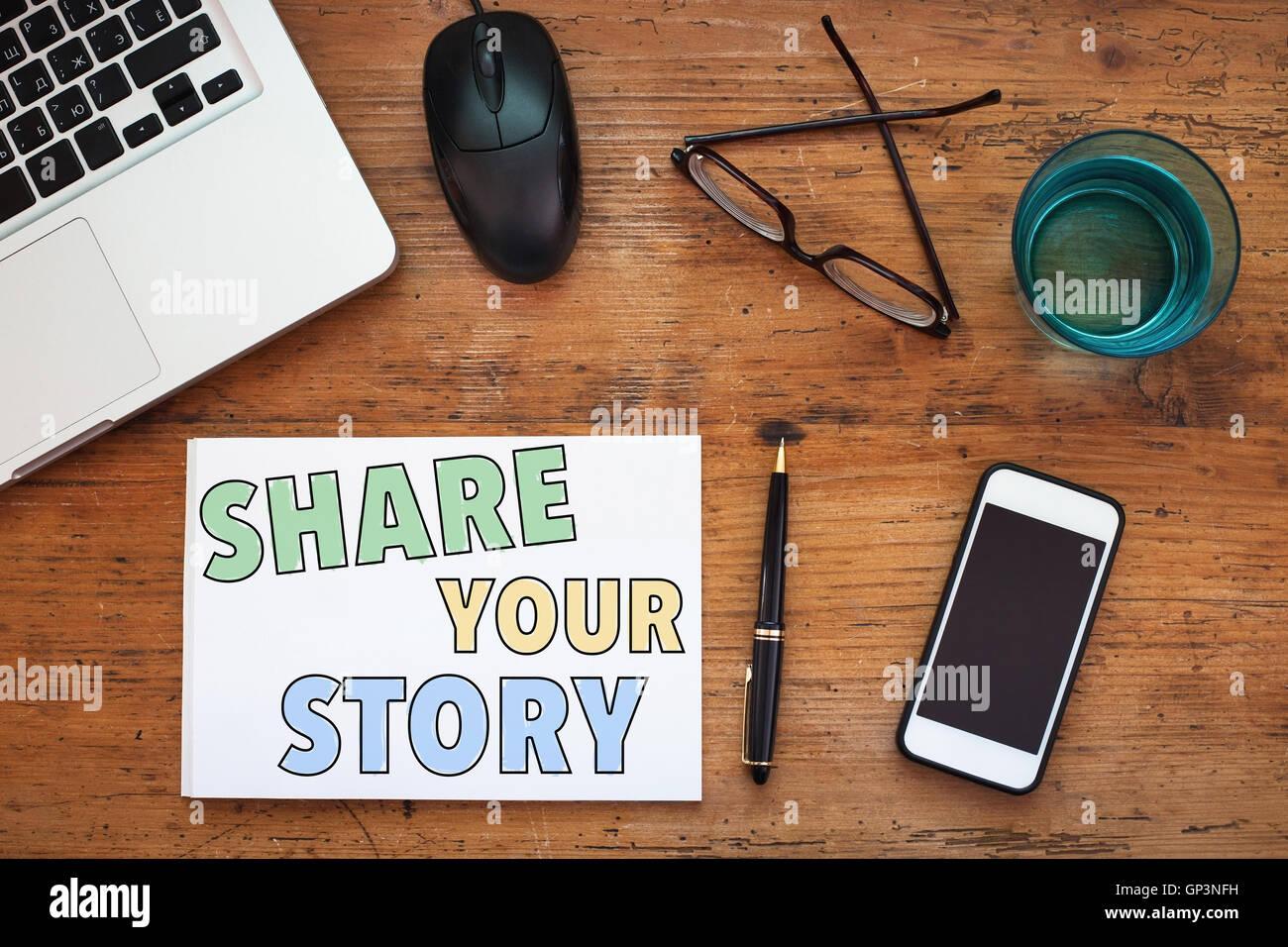 Comparta su historia Imagen De Stock