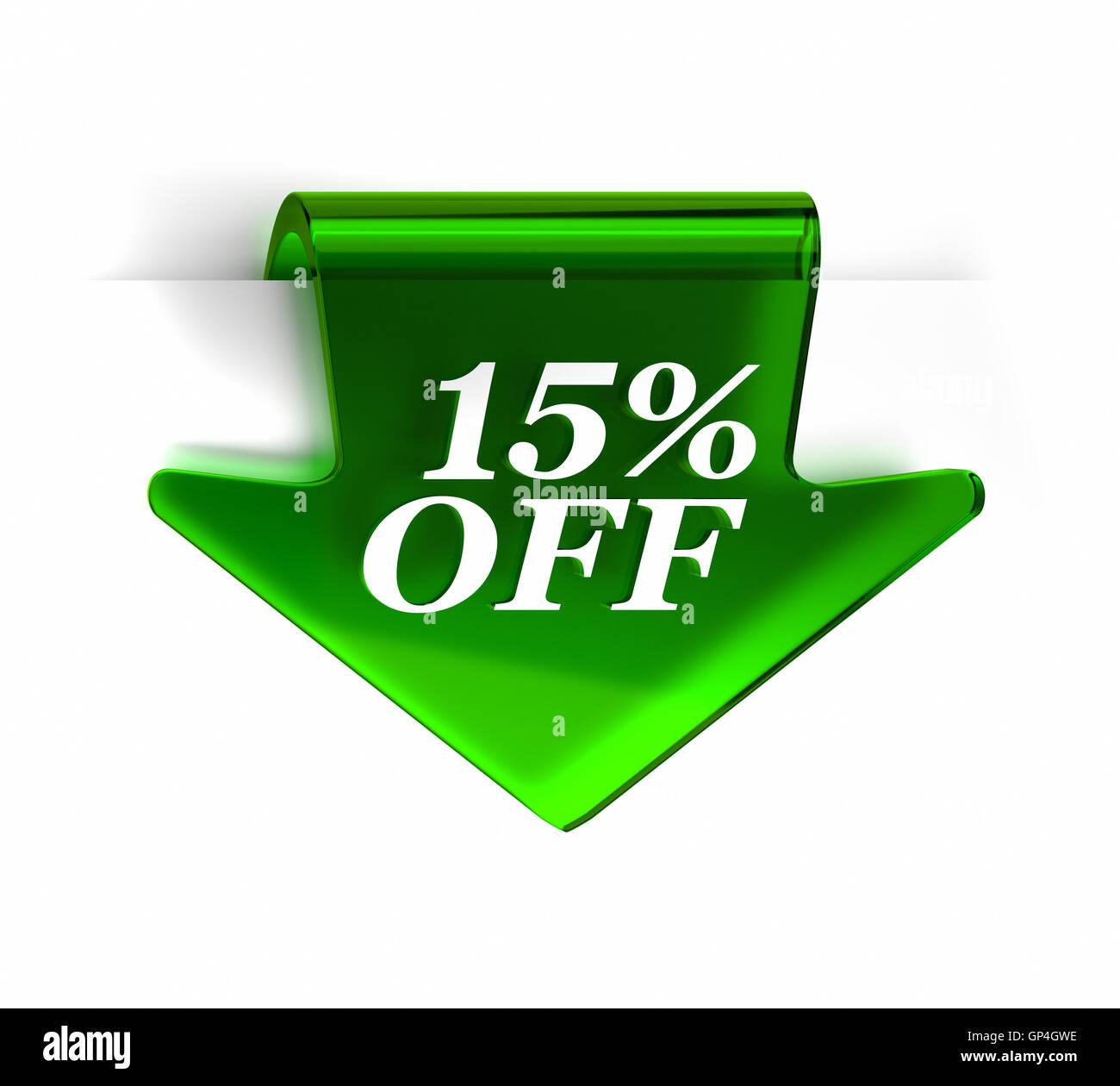 15% de descuento Imagen De Stock