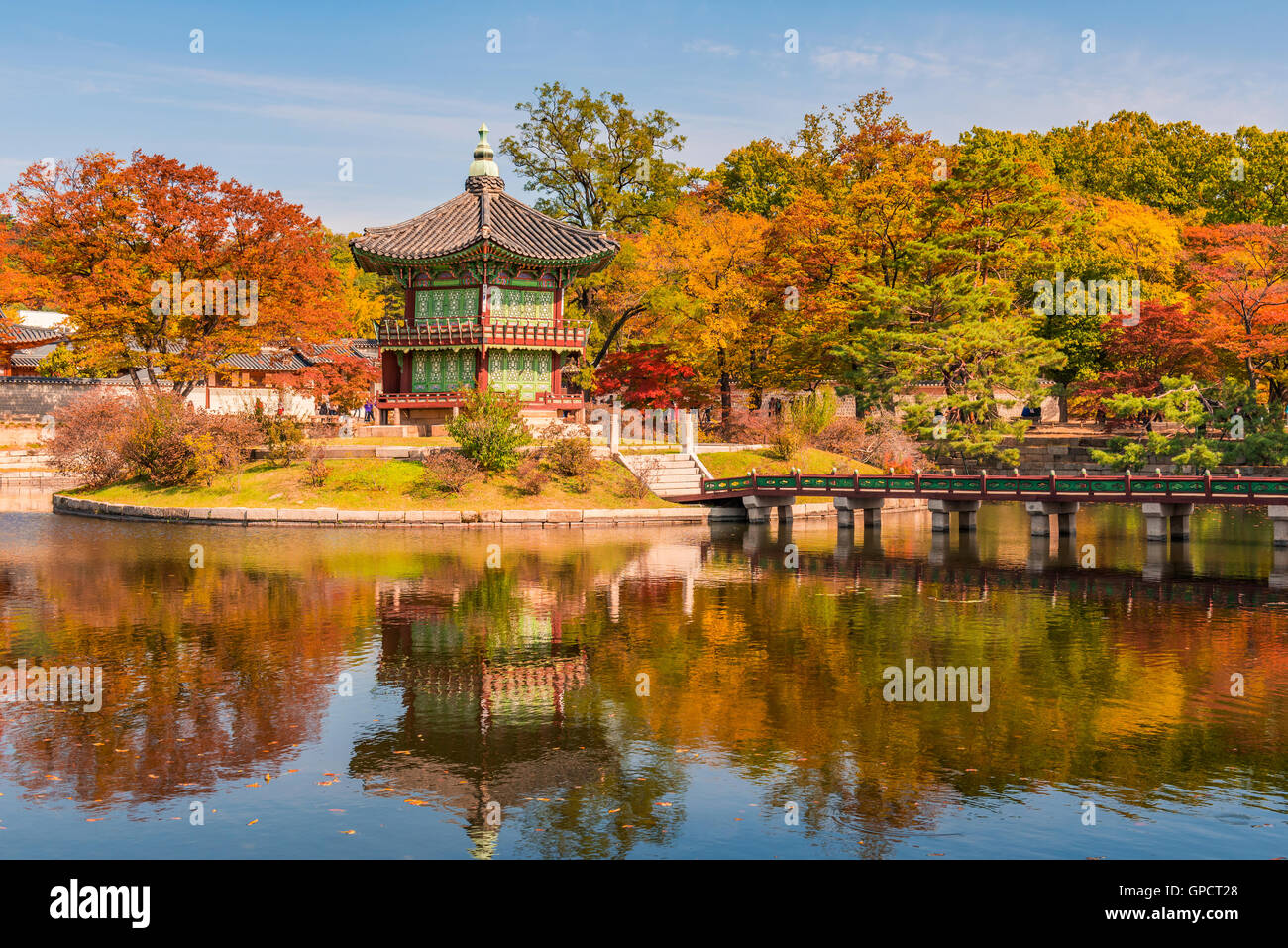 El Palacio Gyeongbokgung en Seúl, Corea Imagen De Stock