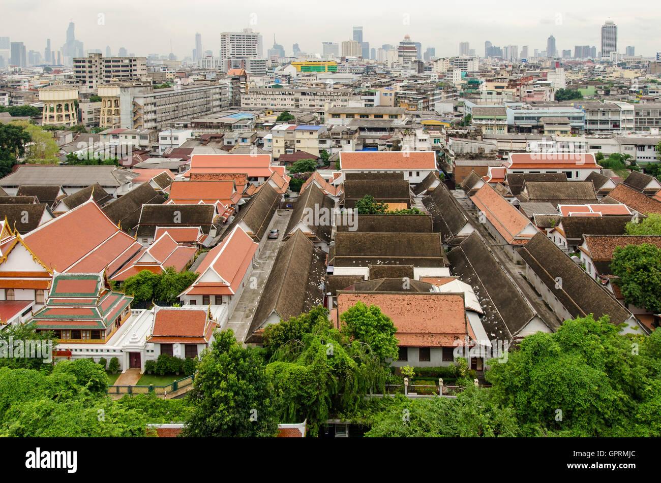 Bangkok (Tailandia), vistas desde el Monte Dorado Foto de stock