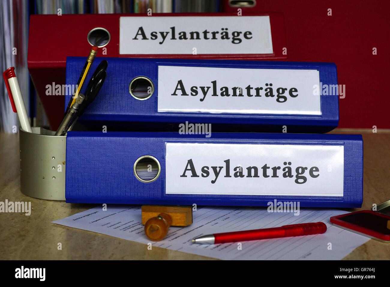 Las solicitudes de asilo Imagen De Stock