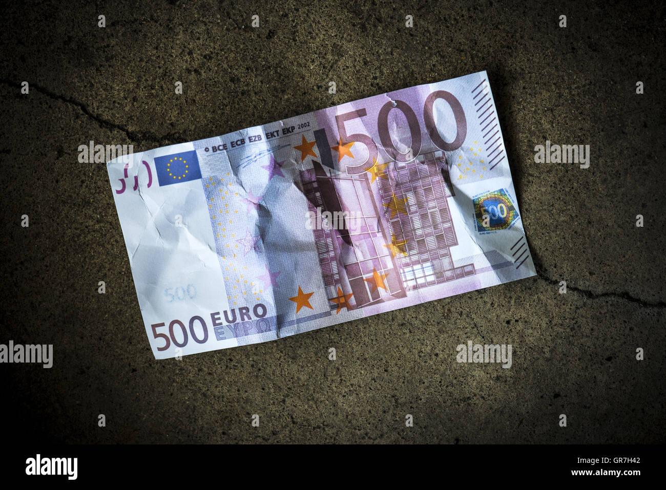 Billetes de 500 Euros Foto de stock