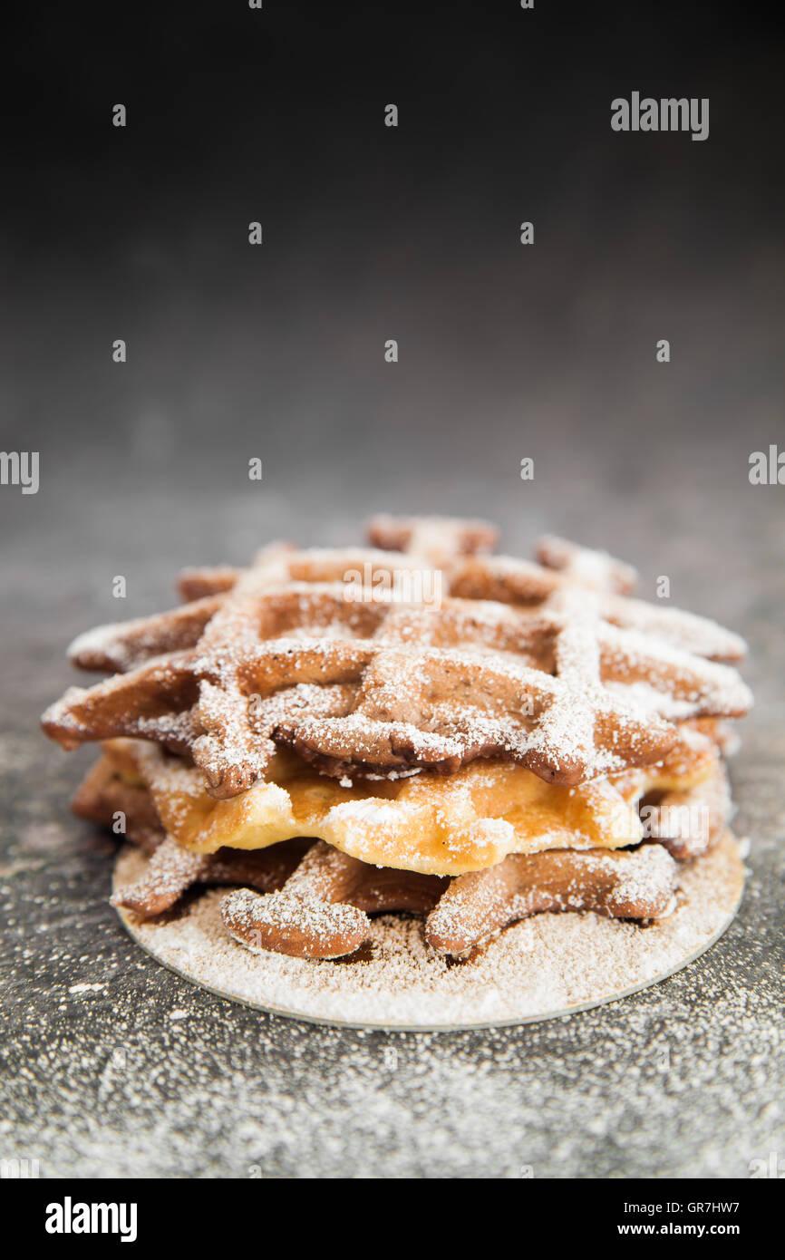 Dulce waffles belgas Imagen De Stock
