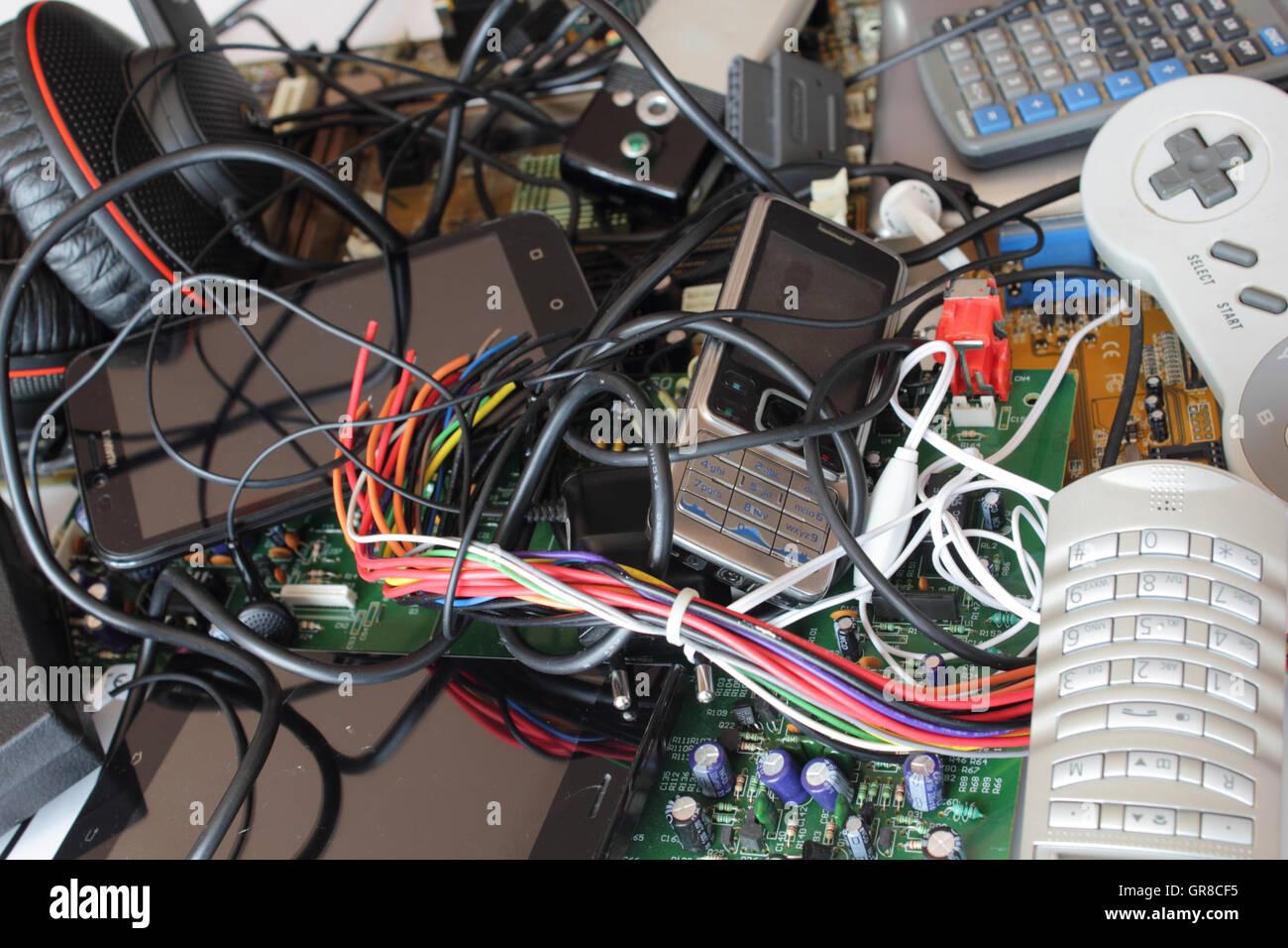 Los residuos electrónicos Imagen De Stock