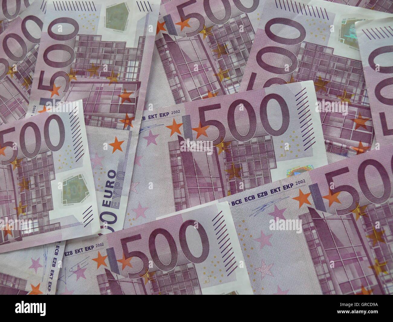 Mucho Dinero Un Montón De Billetes De 500 Euros Está Planeado Para