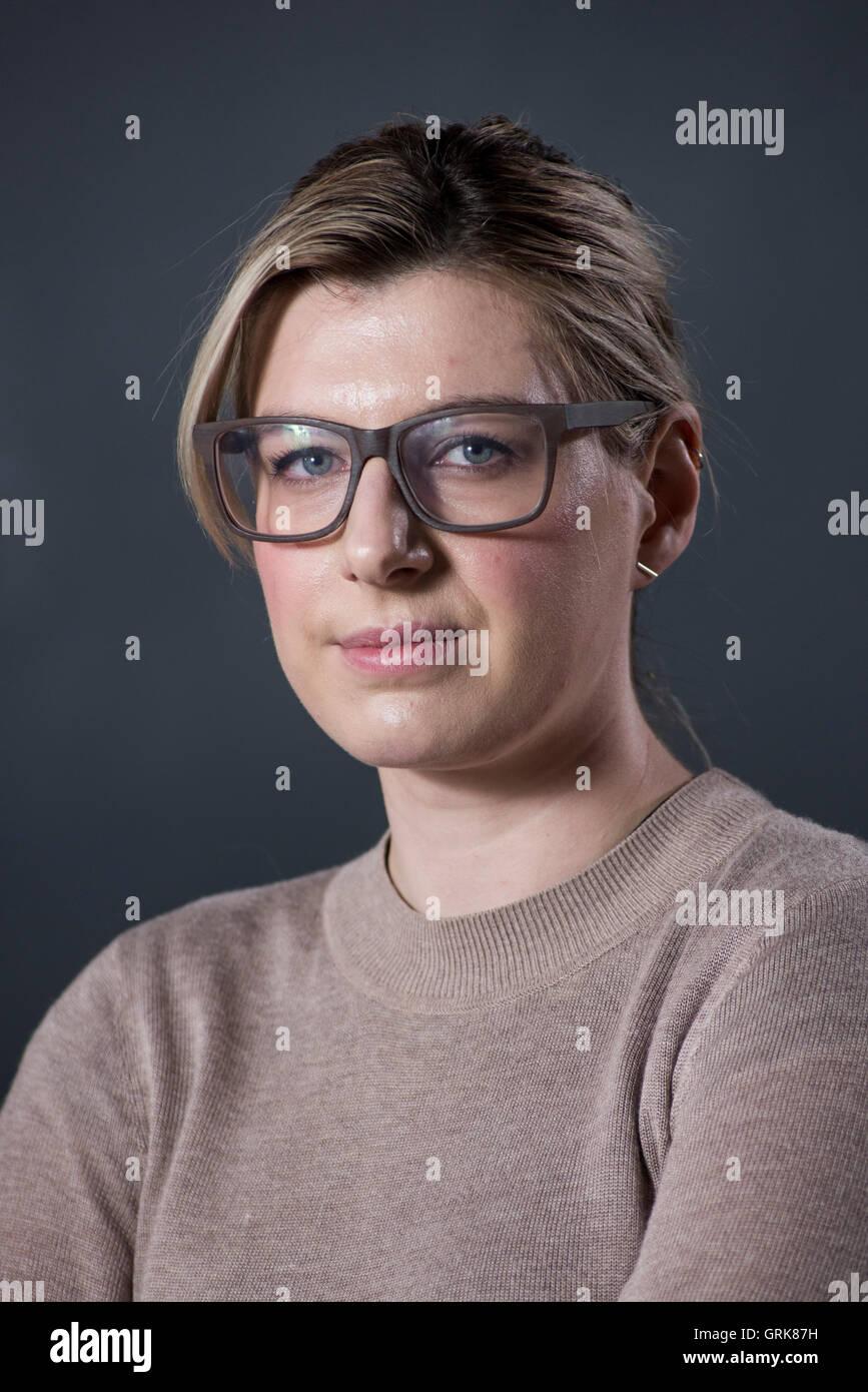 Video juegos escoceses crítico y revelador Cara Ellison. Imagen De Stock