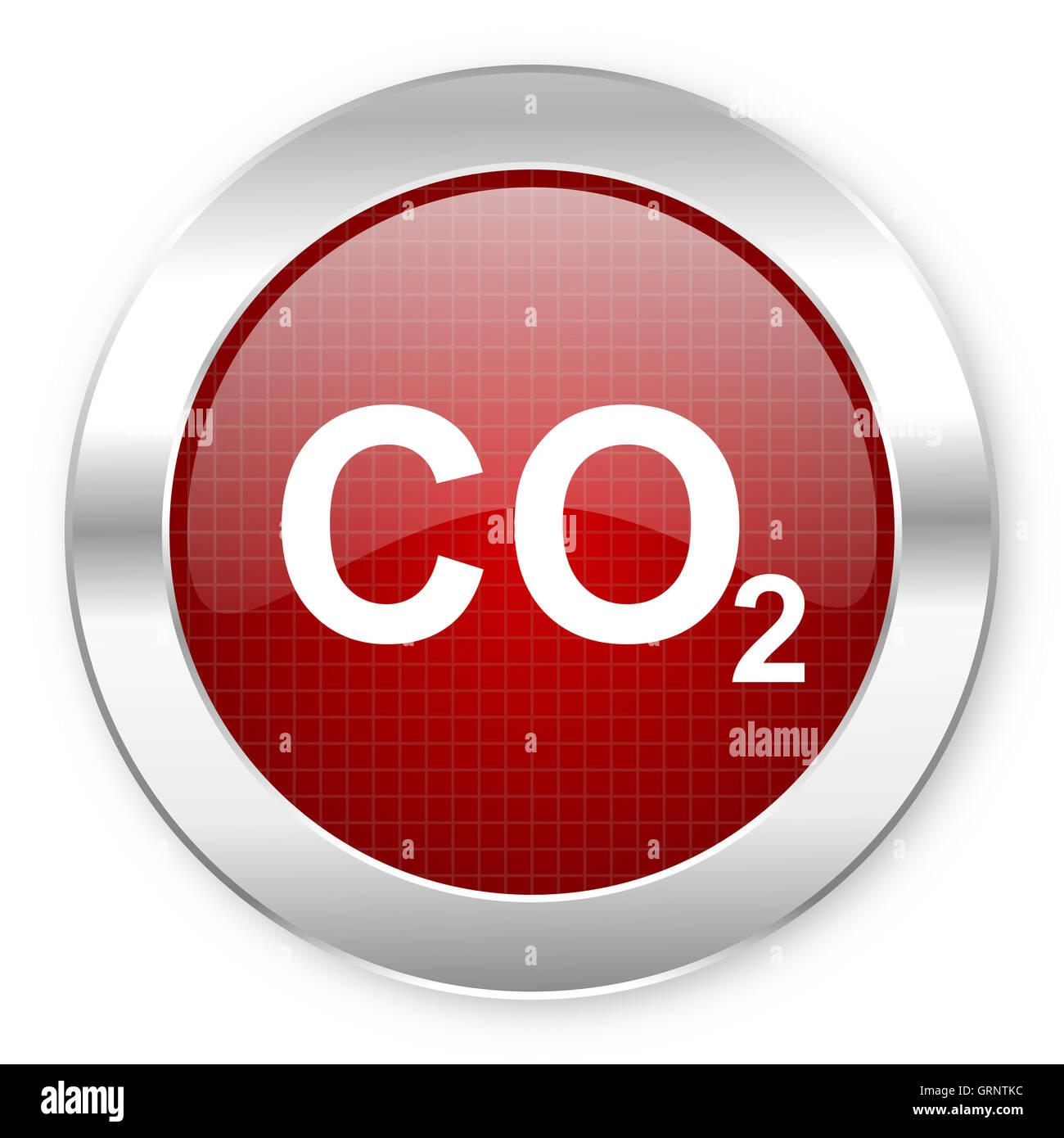 Icono de dióxido de carbono Imagen De Stock