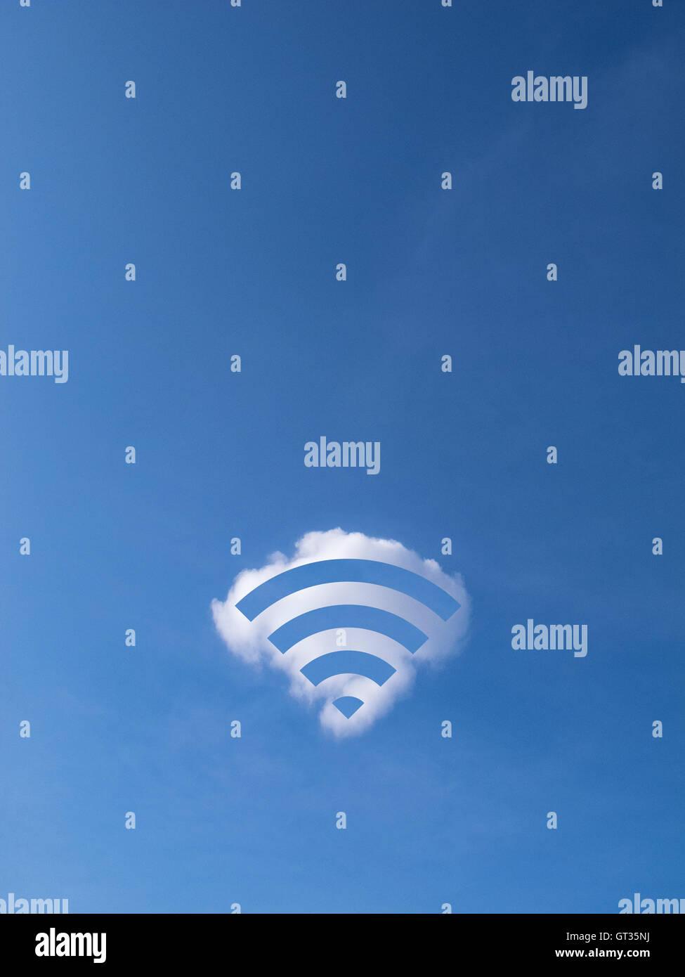 Logotipo Wifi hechas de una nube Imagen De Stock