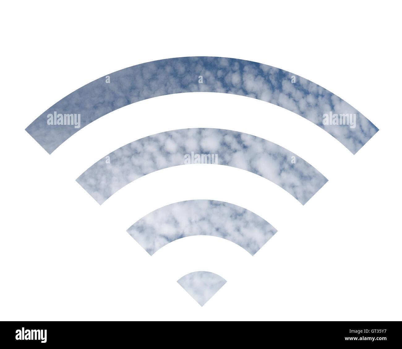 Logotipo Wifi hechas de cloud Imagen De Stock