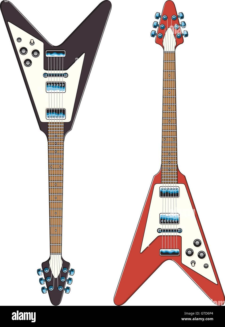 Guitarra Ilustración Vectorial Los Dibujos Vectoriales De