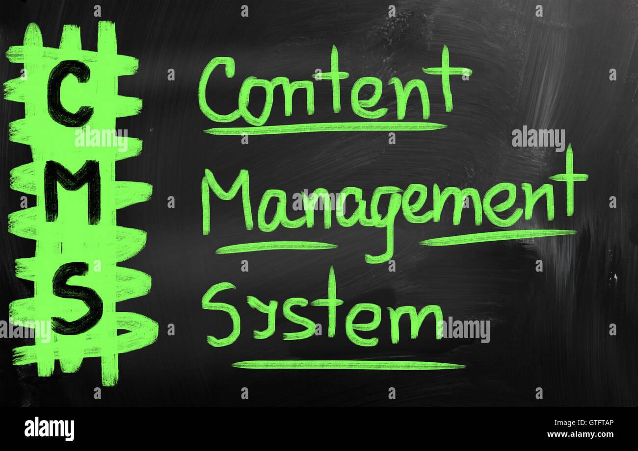 El sistema de gestión de contenidos Imagen De Stock