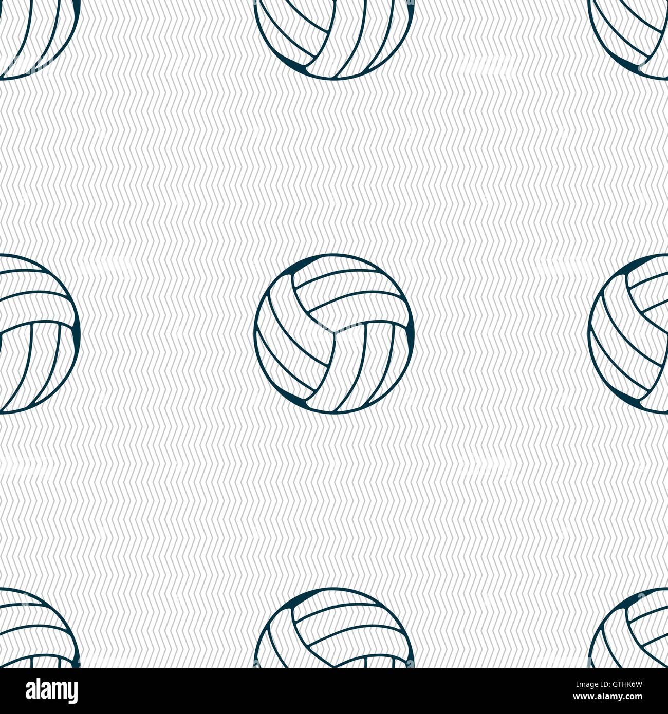 Icono de voleibol firmar. Patrón sin fisuras con textura geométrica. Vector  Imagen De Stock 48d2132a0b0f4