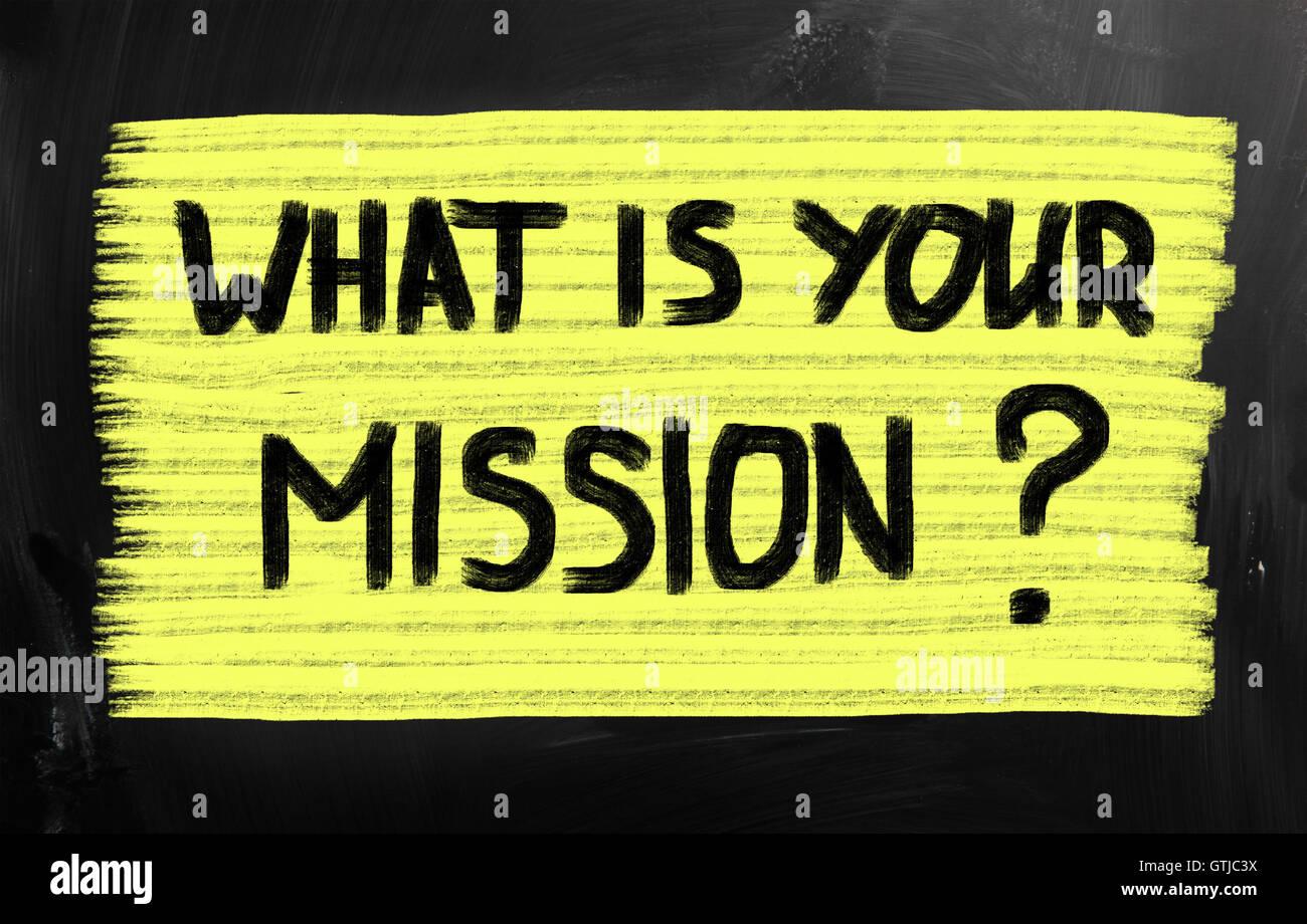 ¿Cuál es su misión? Imagen De Stock