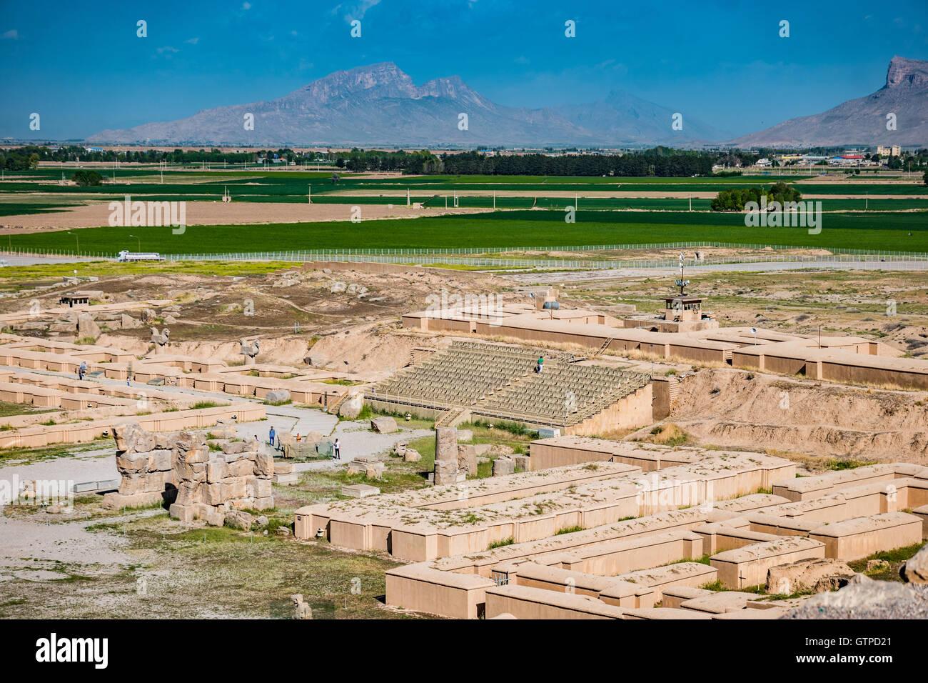 """Persépolis, que literalmente significa 'la ciudad persa"""", también conocido como el trono de Jamshid , fue la capital Foto de stock"""
