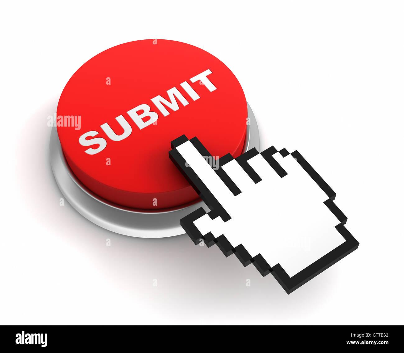Botón Enviar concepto ilustración 3d Imagen De Stock
