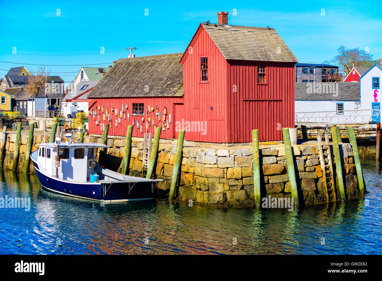Motivo número 1, pesca cabaña ubicada en Rockport Massachusetts Imagen De Stock