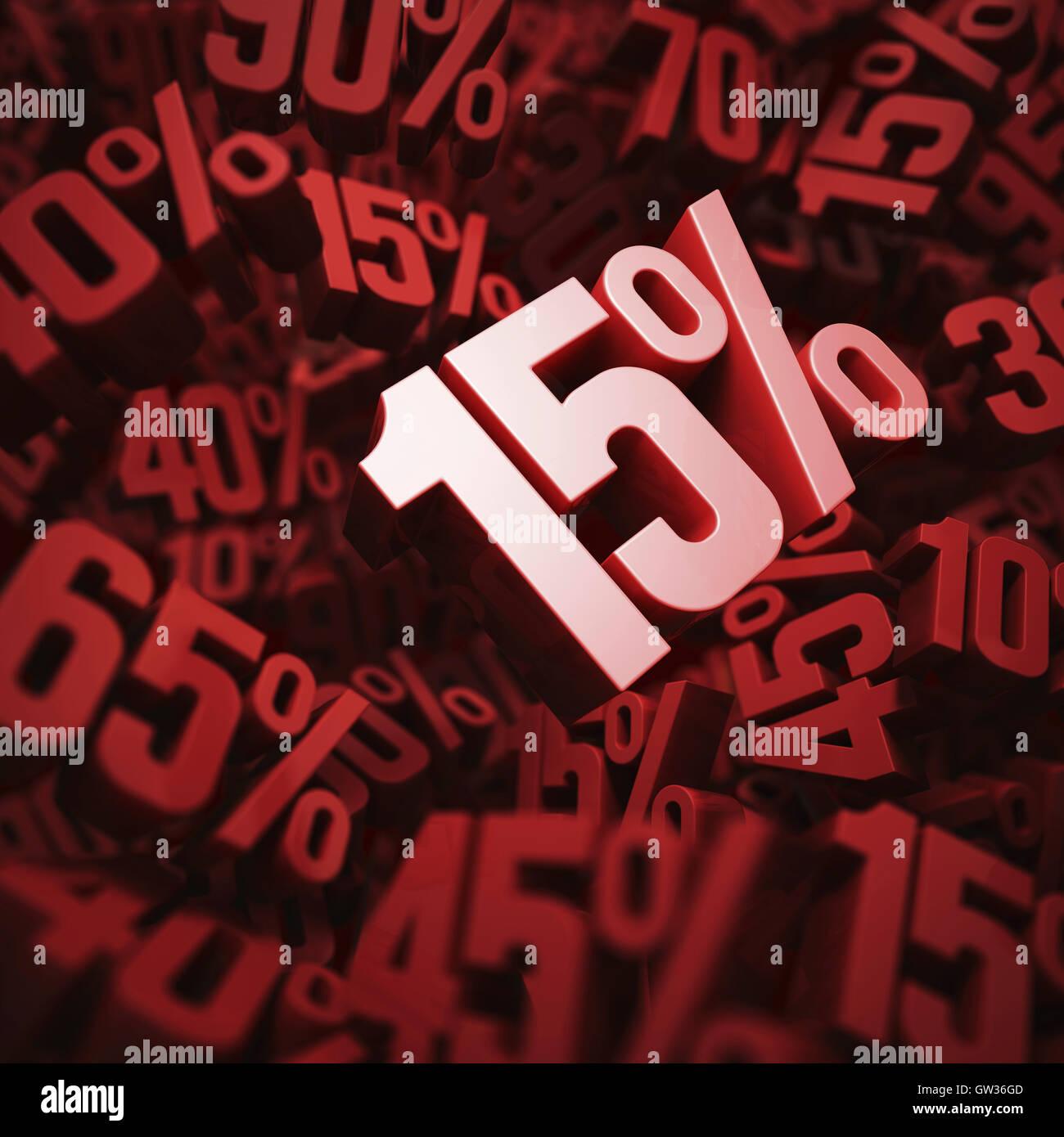 15% de descuento, ilustración. Imagen De Stock