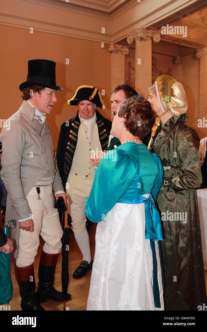 Jane Austen Festival. 9ª-18ª de septiembre de 2016. Bath, Somerset, Inglaterra, Reino Unido. Ponerse al Imagen De Stock