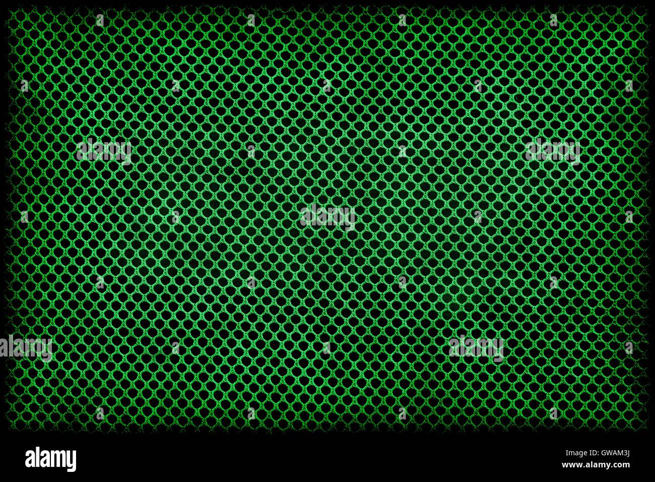 Marco o borde: verde grunge patrón de cuadrícula wattled textiles de ...