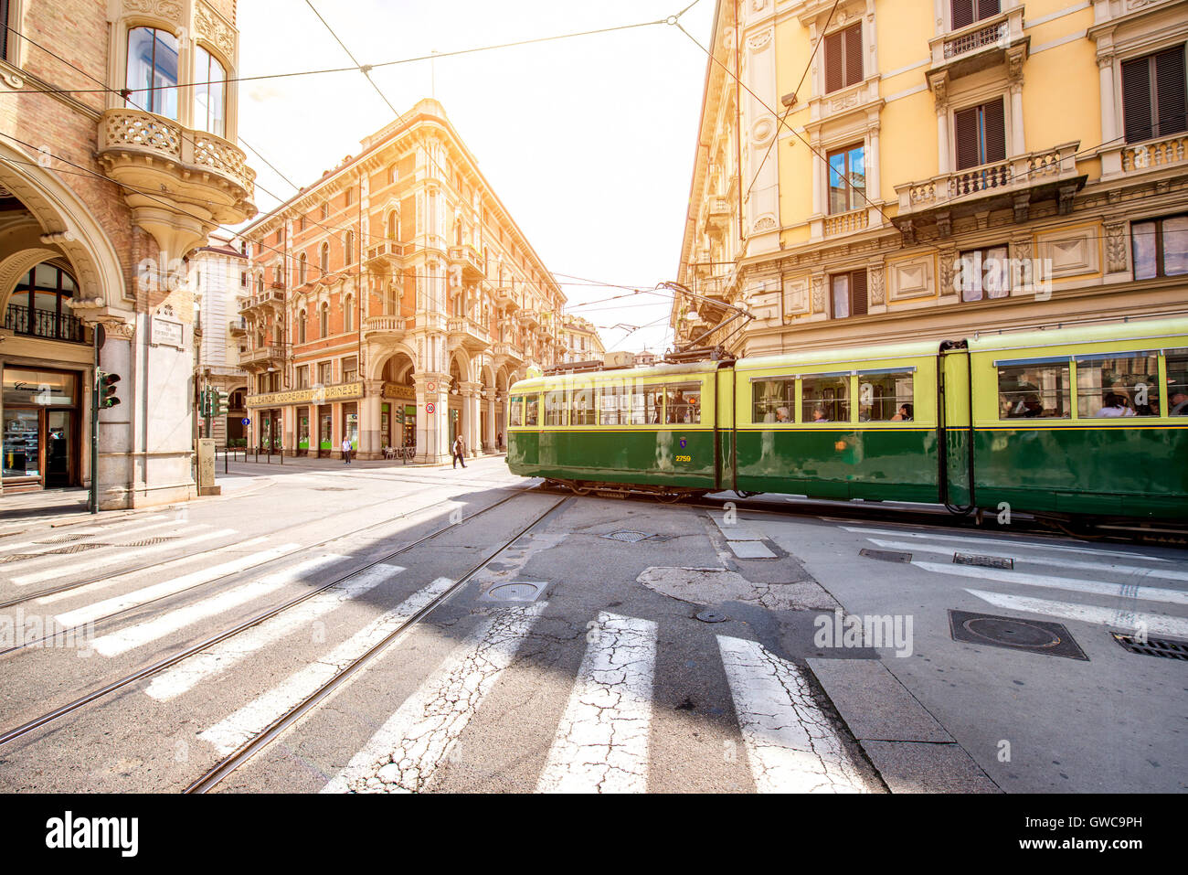 La ciudad de Turín en Italia Foto de stock