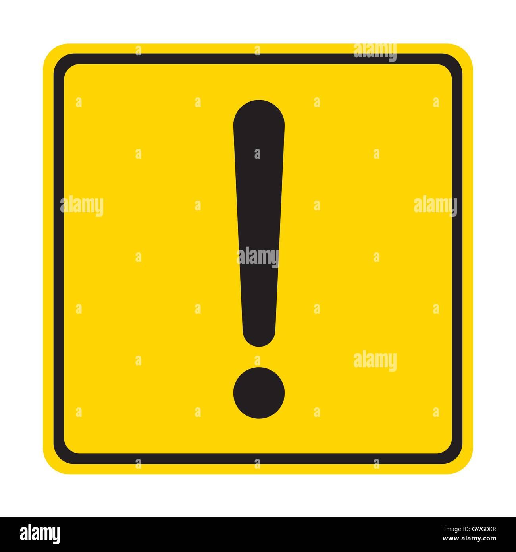 Advertencia, firmar, exclamación, presión, Mark, el amarillo, el icono de error, advertencia, punto, atención, Imagen De Stock