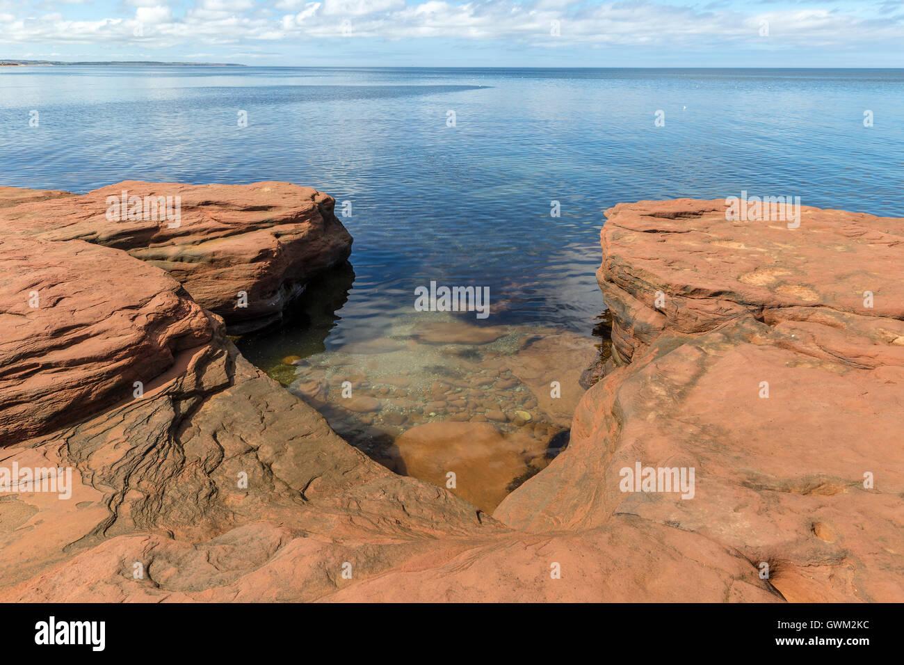 Costas y playas de la Isla del Príncipe Eduardo. Golfo de San Lorenzo. Imagen De Stock