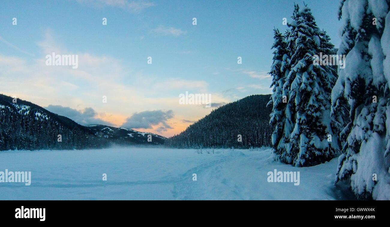 En invierno el parque de Manning, Columbia Británica, Canadá Imagen De Stock