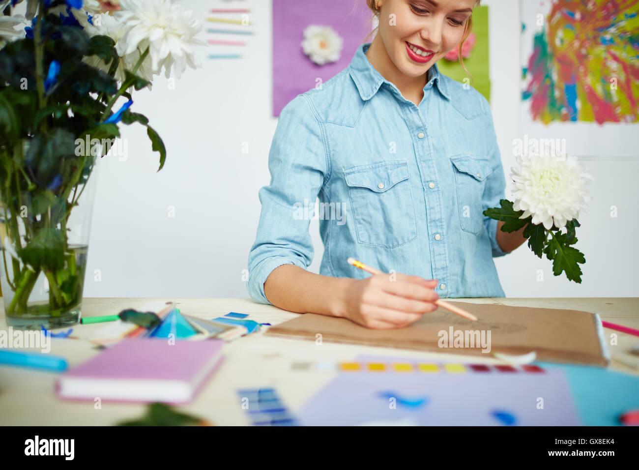 Decisiones de diseño flor Foto de stock