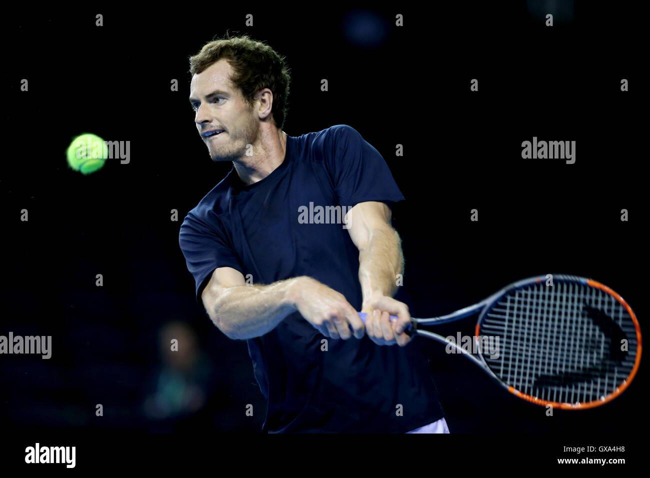 e75b72b263 Gran Bretaña Andy Murray durante la sesión de entrenamiento en el estadio  Emirates