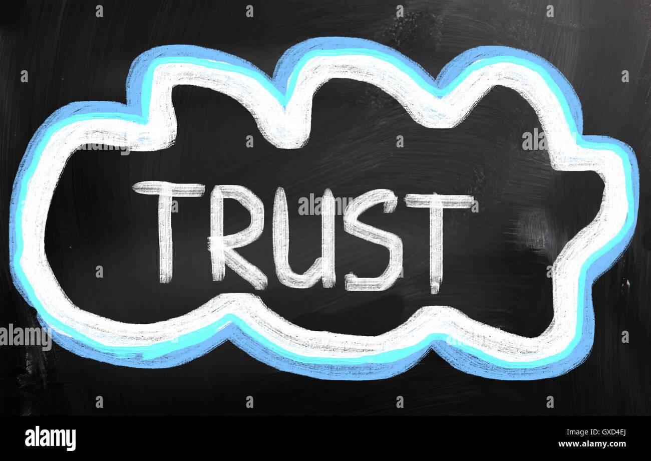 Concepto de confianza Imagen De Stock