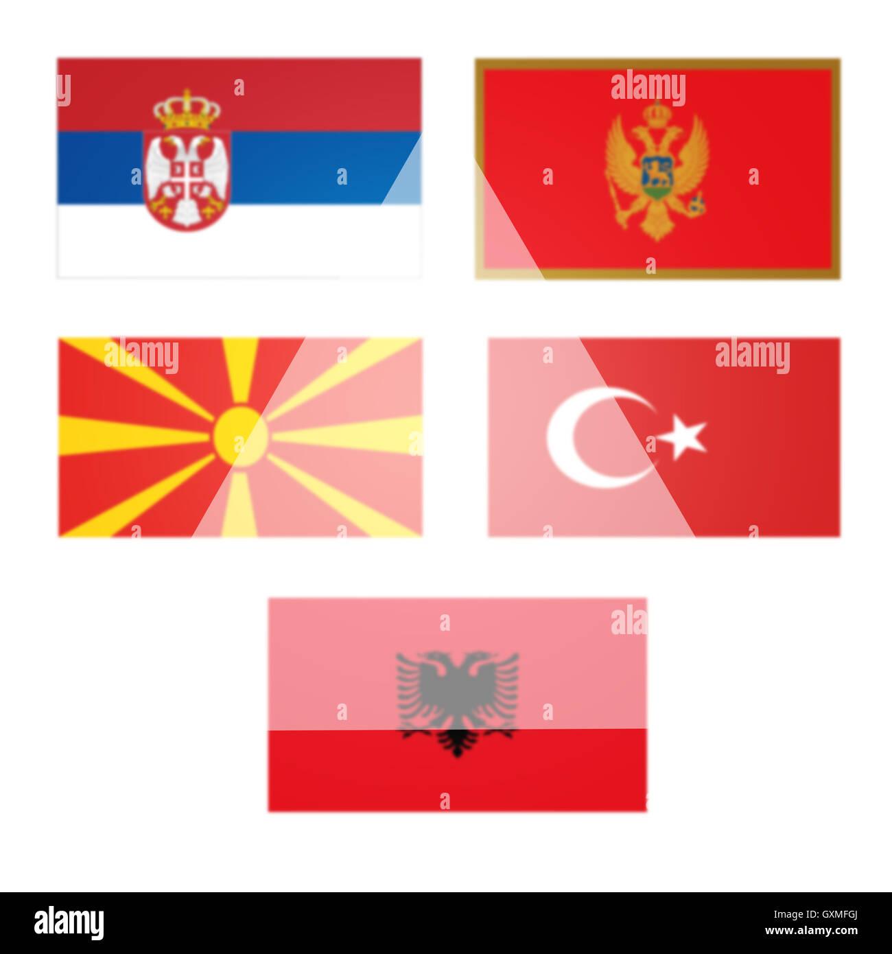 Las banderas, los candidatos a la adhesión a la UE, un lugar para escribir mensajes, papel tapiz, textura, Imagen De Stock