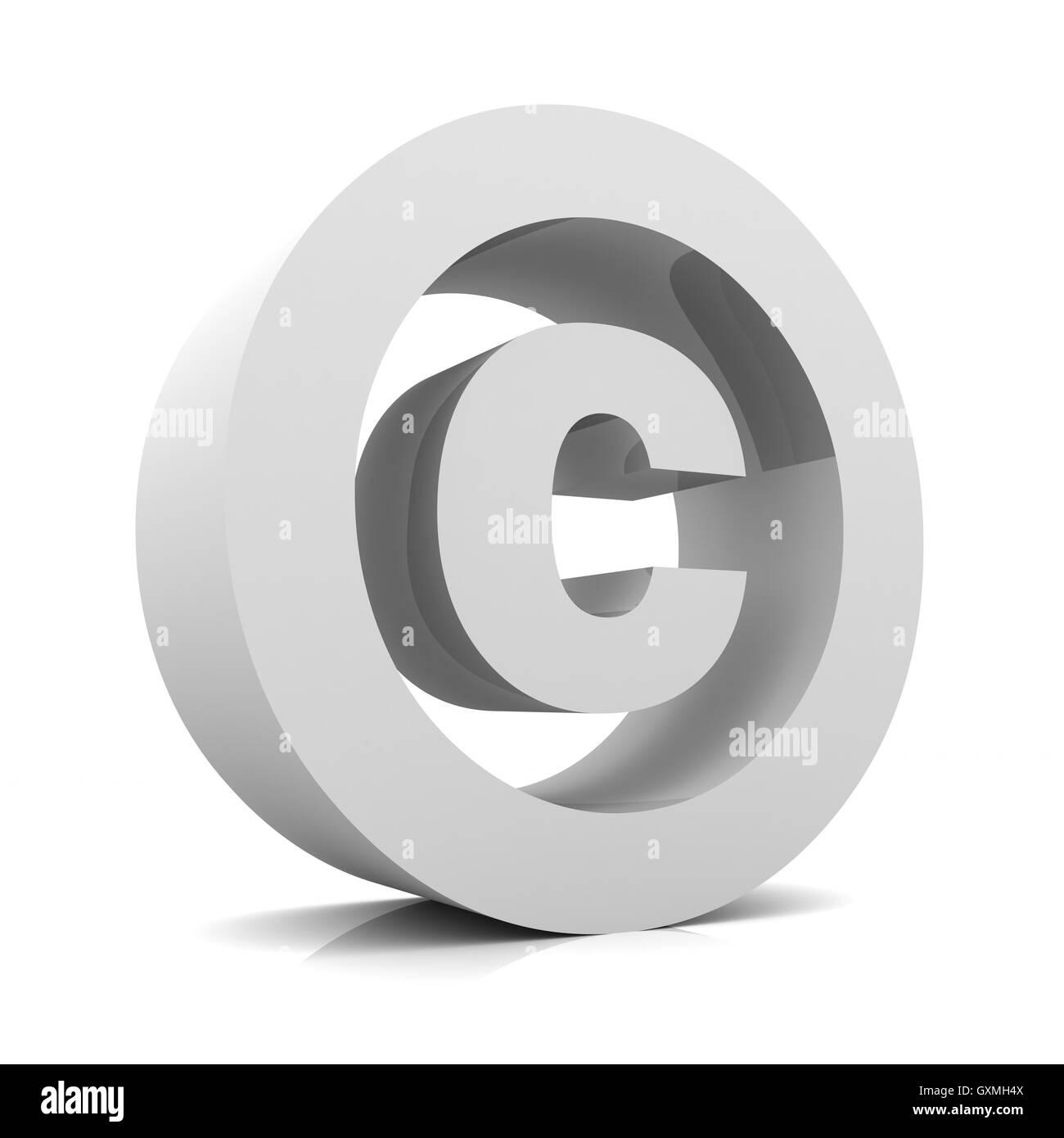 Signo de copyright concepto ilustración 3d Foto de stock